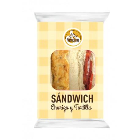Sandwich de Tortilla y chorizo