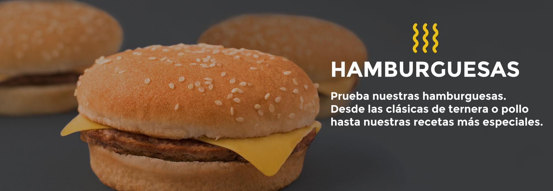 Prueba nuestras hamburguesas
